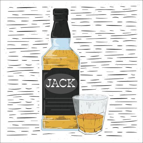 Illustration de boisson vecteur dessiné à la main