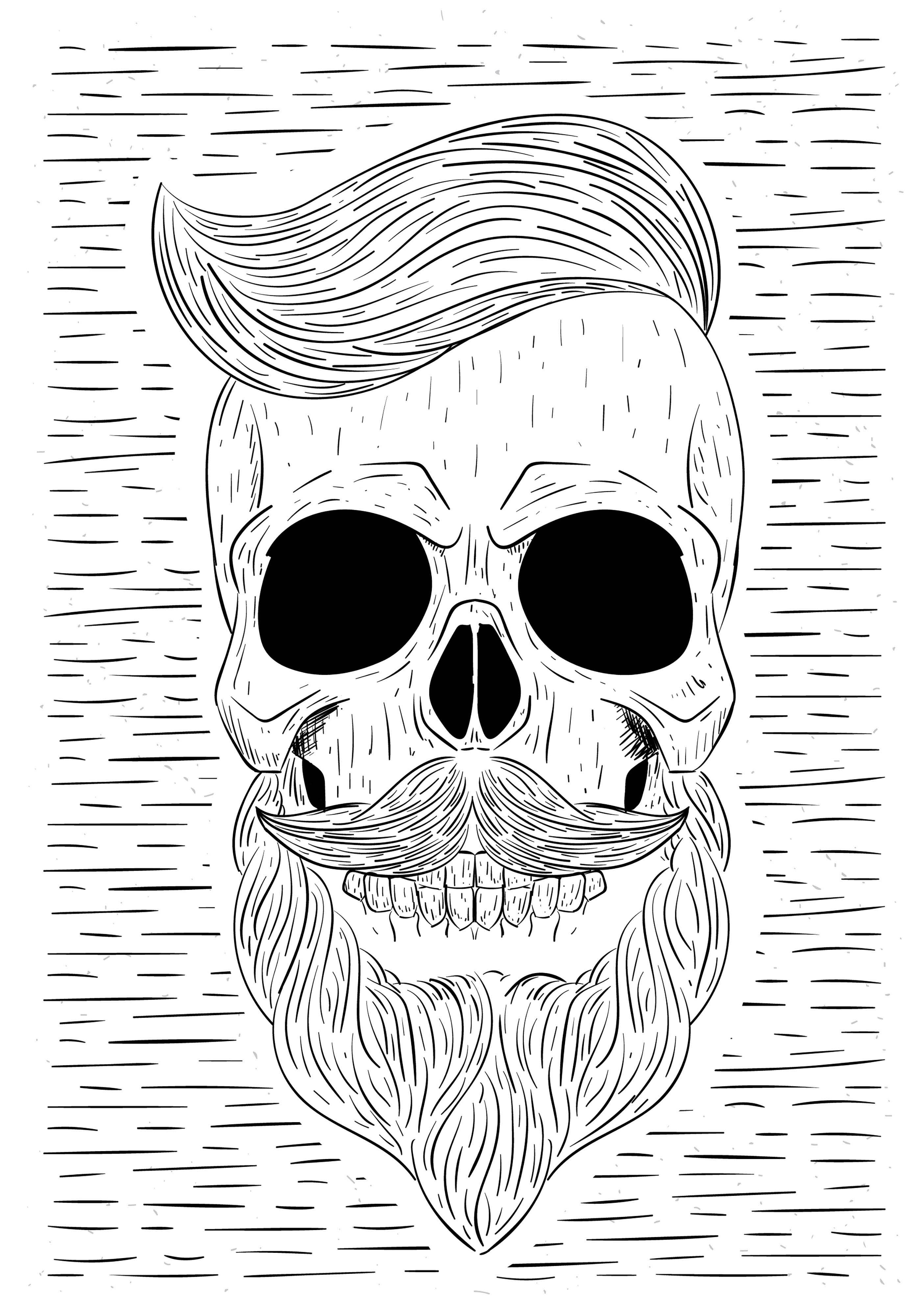 skull beard free vector art 1494 free downloads