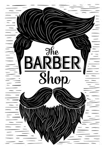 Hand Drawn Vector Beard Illustration