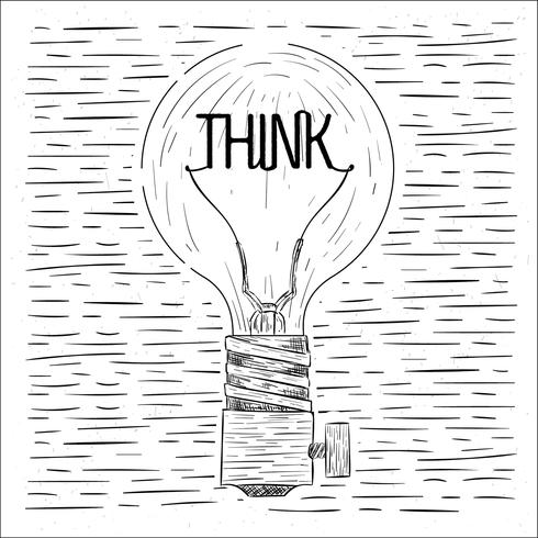 Hand Drawn Vector Lightbulb Illustration