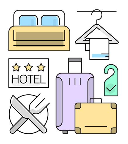Linear Hotel Icons Set