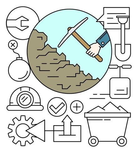 Linear Mining Icons