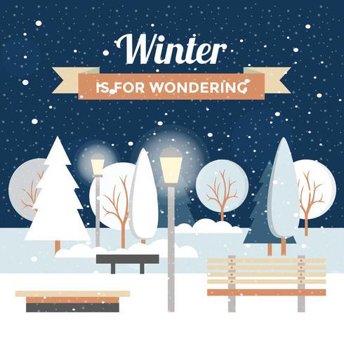 Ilustração bonita do vetor da paisagem do inverno