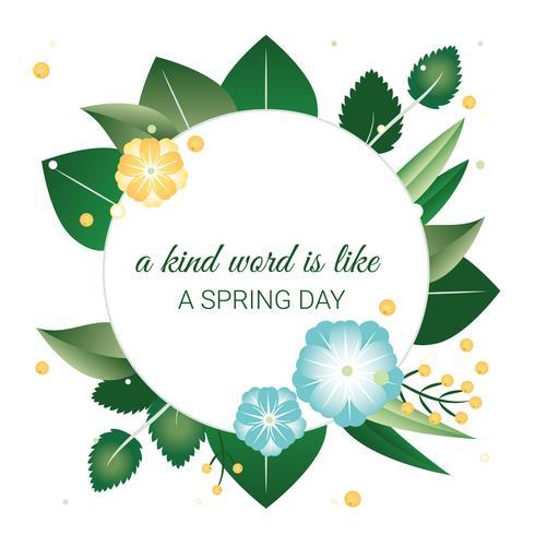 Beautiful Spring Greeting Card Design Illustration
