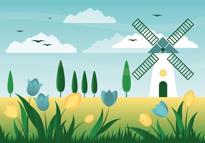 Beautiful Spring Background Illustration