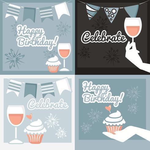Vector Celebration Cards
