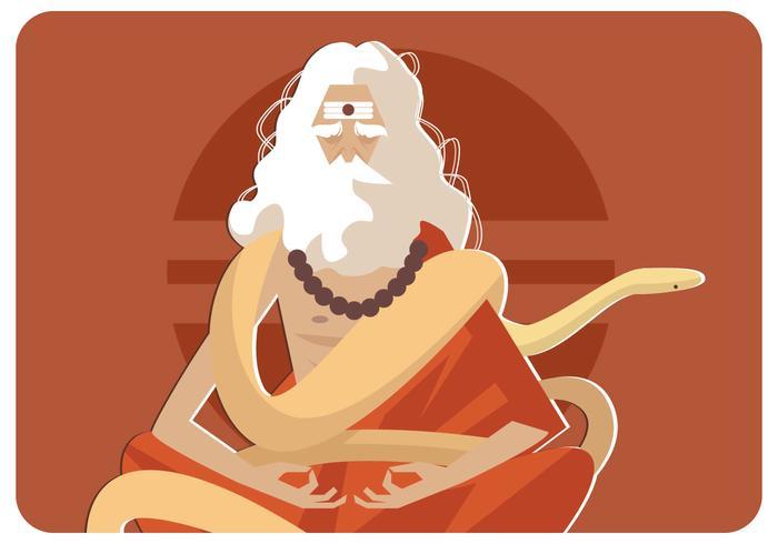 El Anaconda Guru Vector