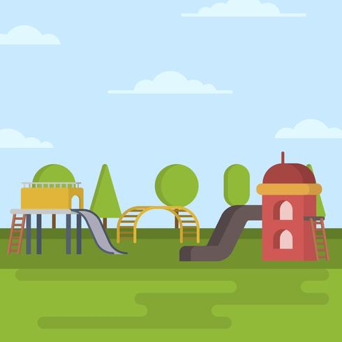 Flat Playhouse Vector Illustration