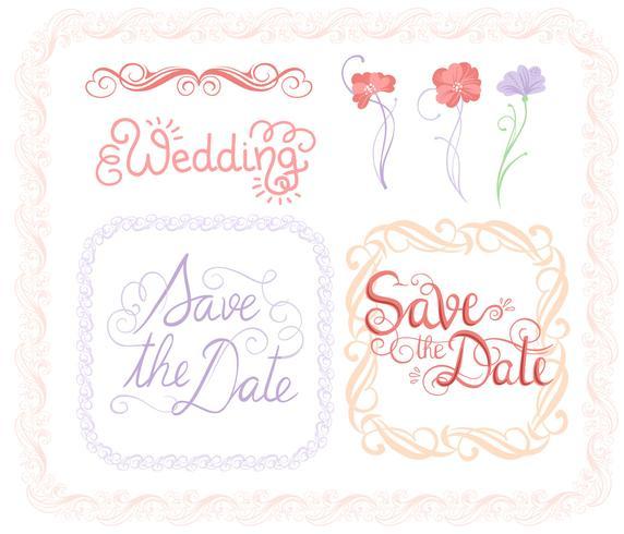 Bruiloft vectoren