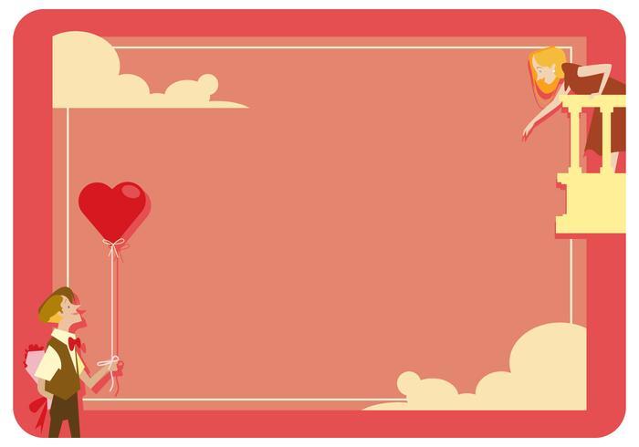 Valentine romantische kaart Vector