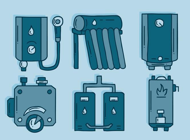 Sketch Water Heater Element Vector