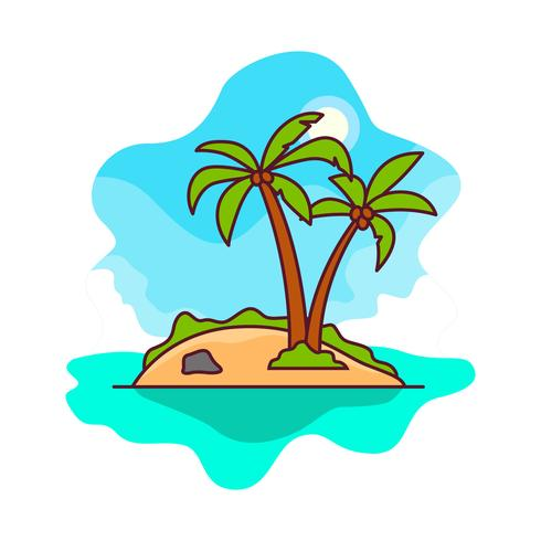 Free Vector Desert Island