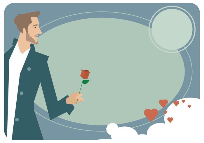 Hombre Valentine Card Vector