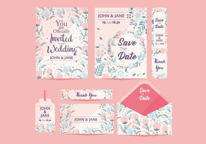 Wedding Save the Date Vol 2 Vector