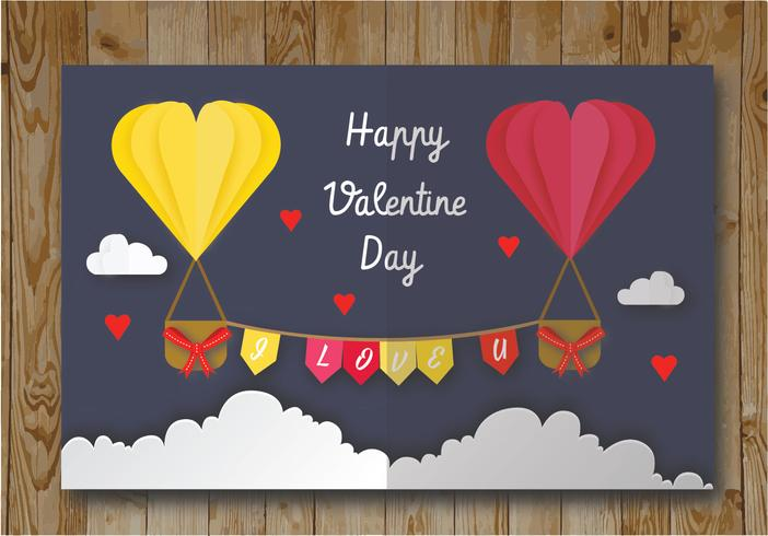 Valentine Card Vector Design