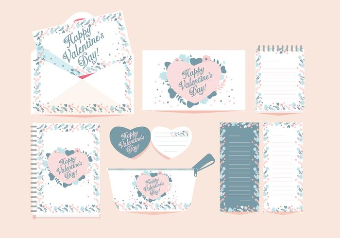 Valentine Stationery Vector - Download Free Vector Art, Stock Graphics & Images