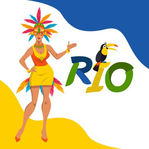 Rio Carnival Vector Illustration Concept