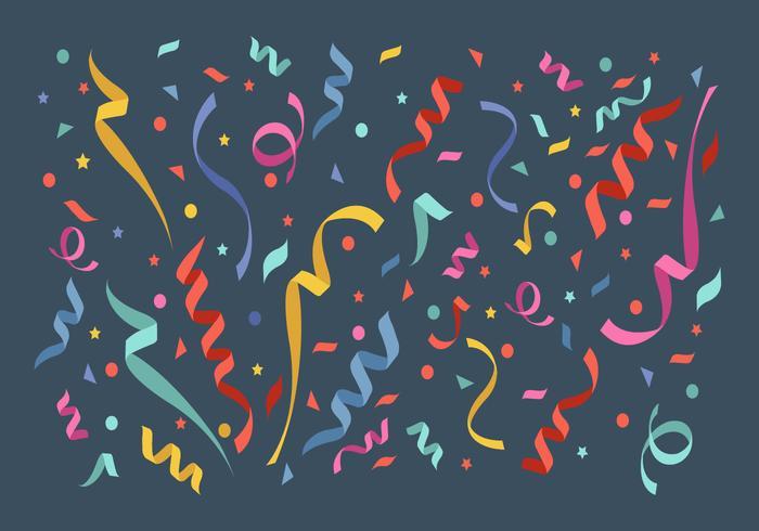 Ilustración de Vector de elementos de confeti