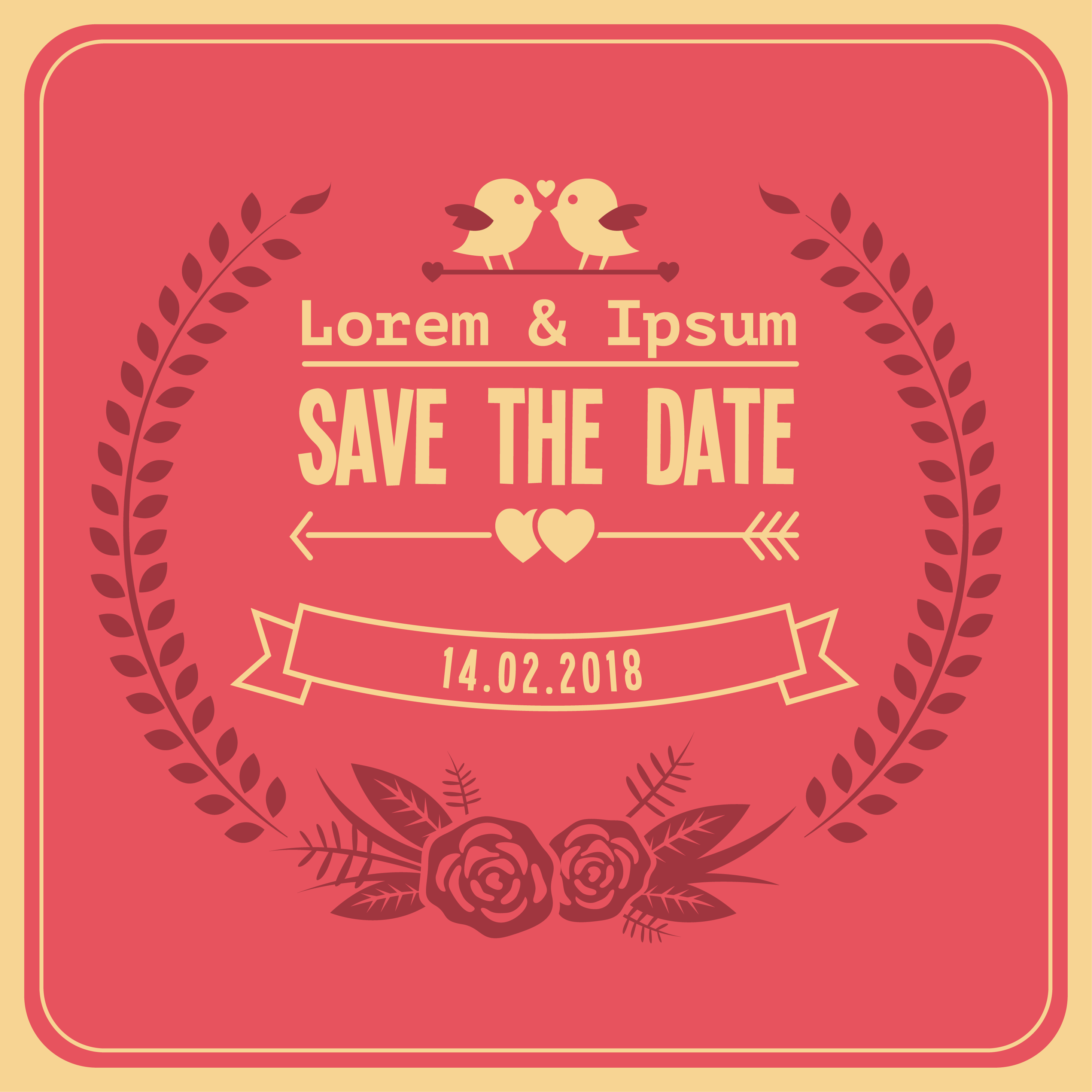 Free wedding save the date vector download free vector art stock graphics images for Save the date vector