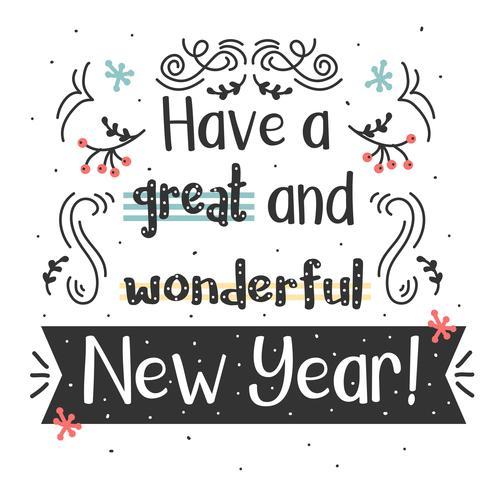 Nyår Typografi Vector