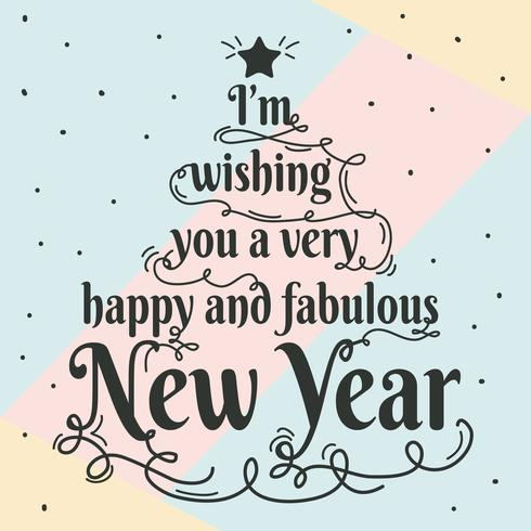 Glad och Fabulous New Year Typography Vector