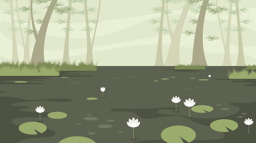 Lotus In The Bayou Free vector