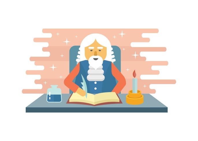 Medieval Scribe Character Illustration