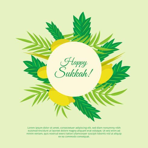 Happy Sukkah Vector Background