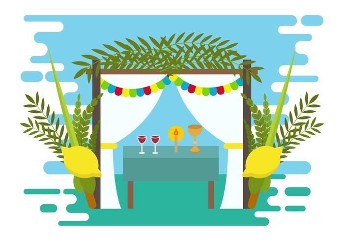 Decorative Sukkah Vector Illustration