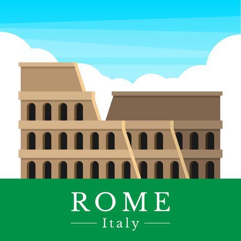 roman colosseum illustration