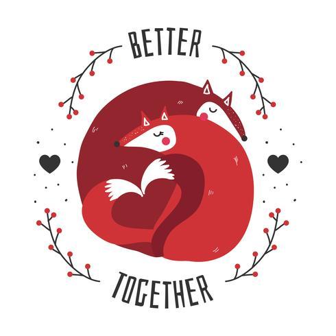 Bättre tillsammans vektor
