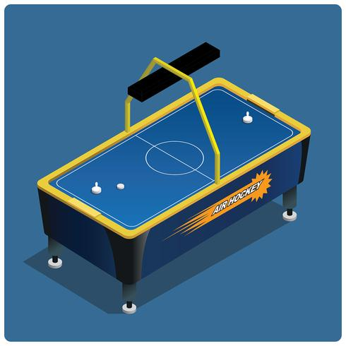 Air hockey tafel vector