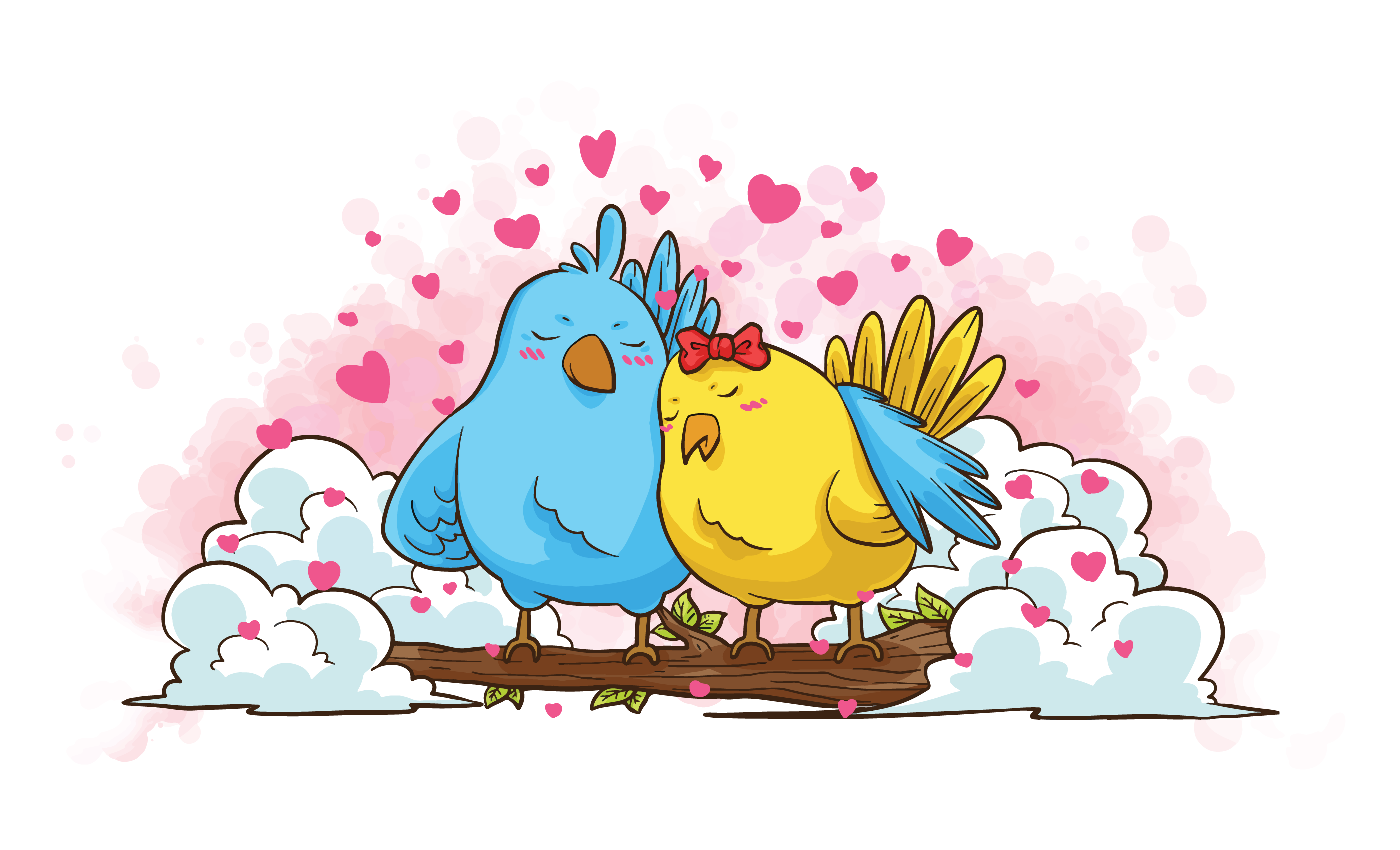 Creatures In Love Vector Illustration - Download Free ...