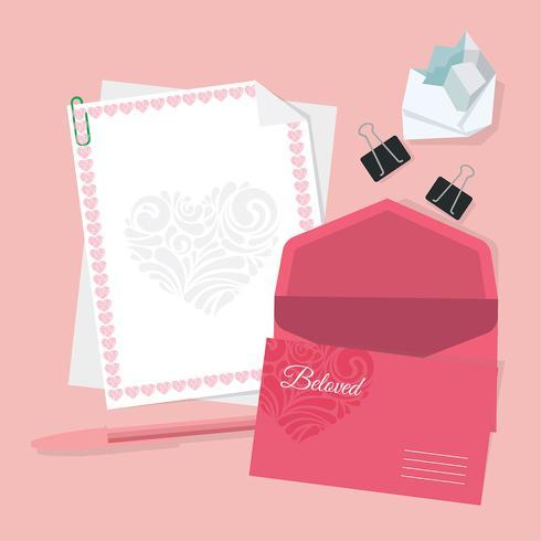 Valentine Stationery Vector