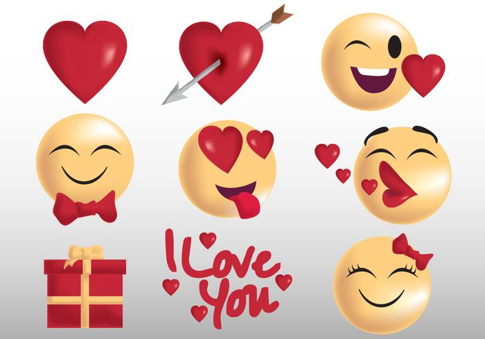 Valentine Emoji and Sticker