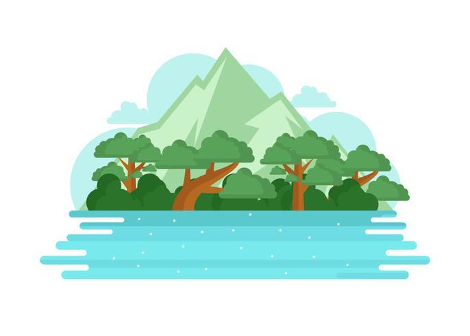 Bayou vectorillustratie