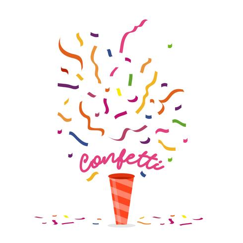 Colorful Confetti Vector Illustration
