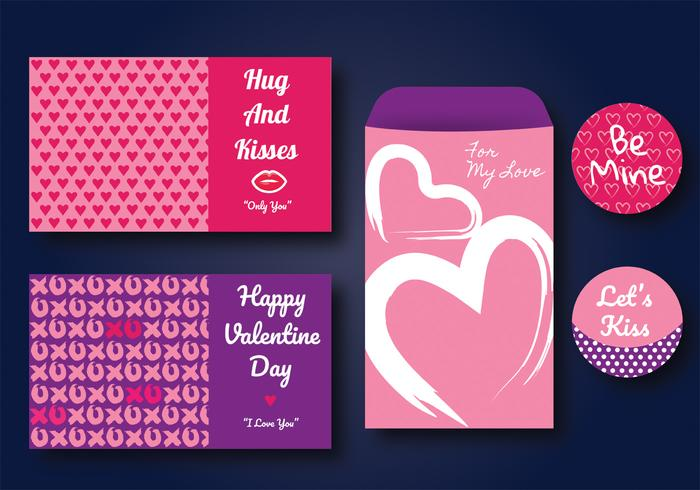 Valentine Cards Vector Design