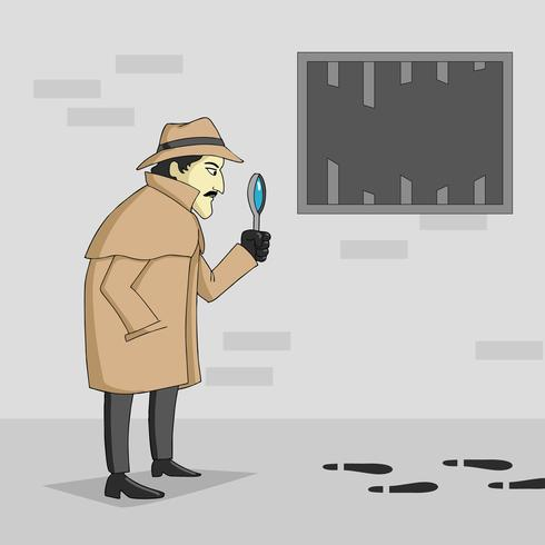 Detective finding for a clue