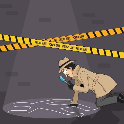 Detektiv upptäckt på en ledtråd