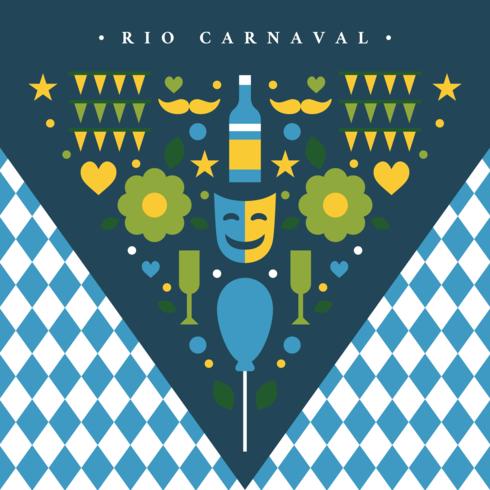 concetto di triangolo rio carnaval vettore