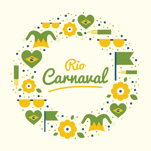 circle rio carnaval vector
