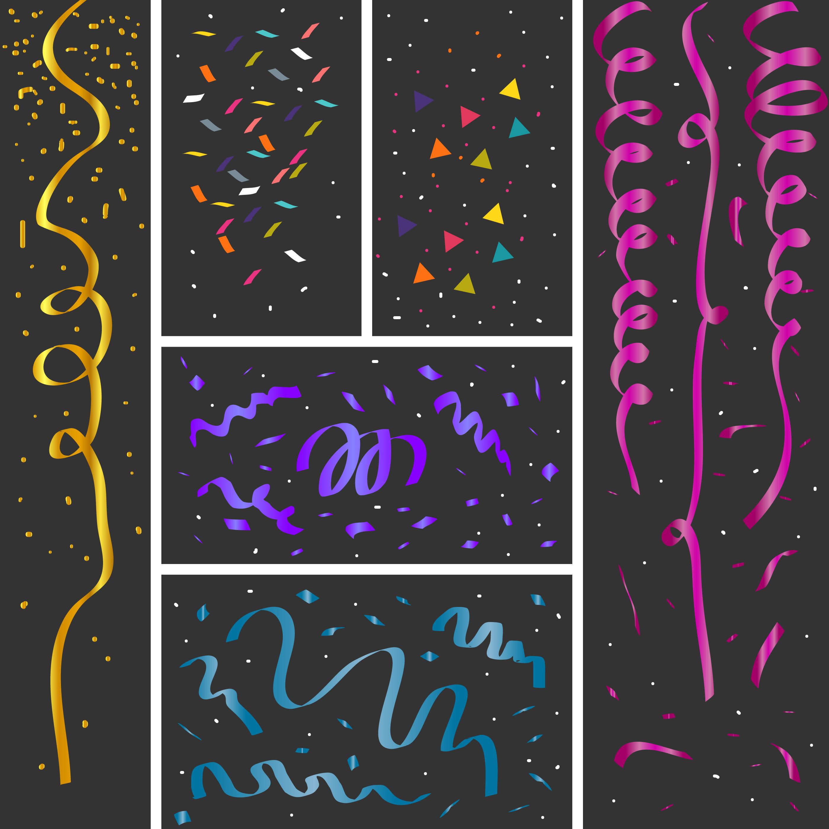 Confetti Vector Download Free Vector Art Stock Graphics