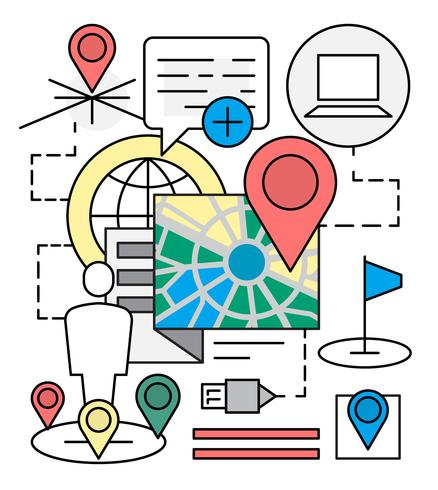 Iconos de navegación lineal gratis