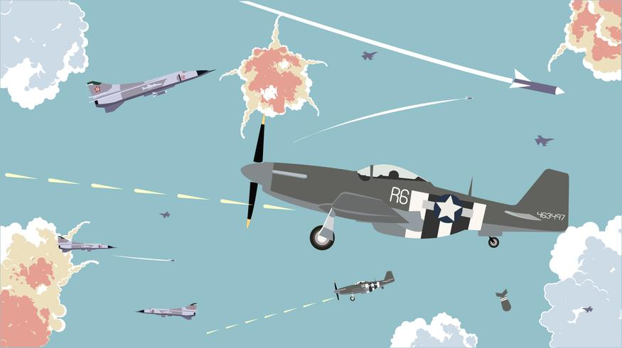 Gliders In The Sky War Free Vector