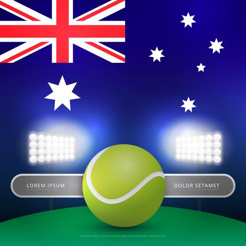australiska tennis mästerskap arkad illustration