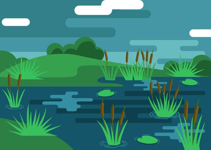 Marsh Illustration Vector