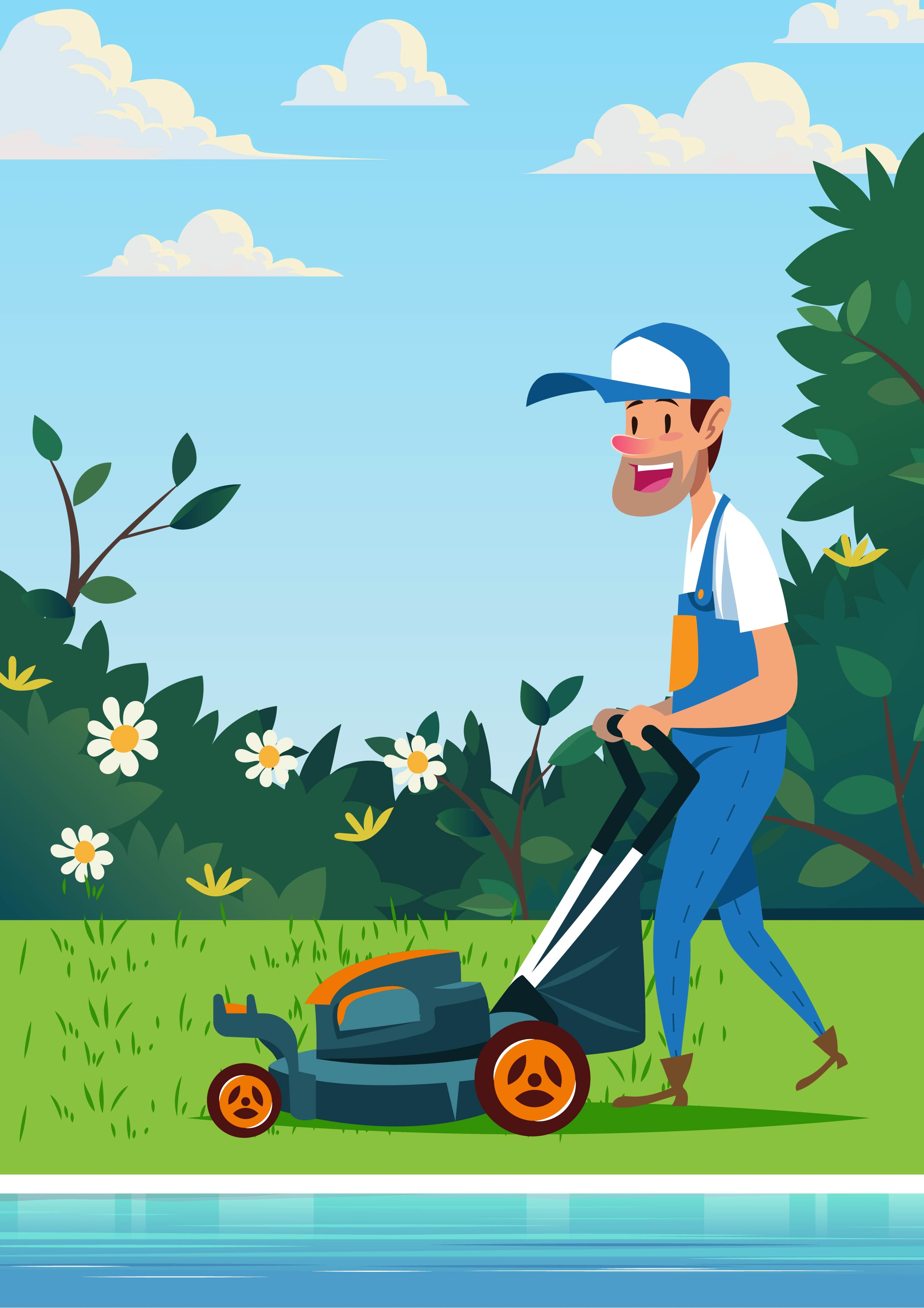 Lawn Mower Free Vector Art 3801 Free Downloads