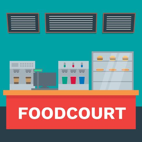 Fast Food Market Vector Flat Material Design