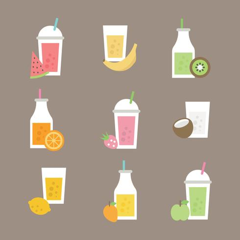 Set Of Different Kind Of Smoothies